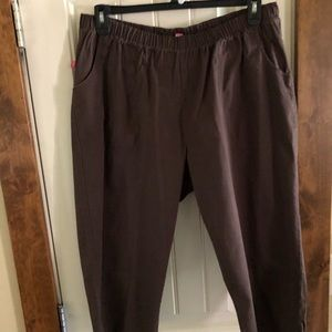 Woman Within Brown Capris - Stretchy- Size 20WP